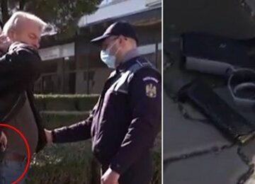 Oneşti/ Un bărbat înarmat, prins pe stradă de jurnaliştii unei televiziuni